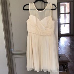 J Crew Cream Chiffon Dress